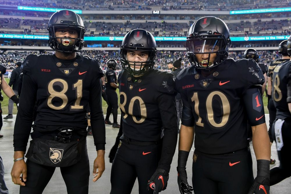 2018 Army Black Knights Special Football Uniforms Honoring The First Infantry Of 1918 For The Army Army Black