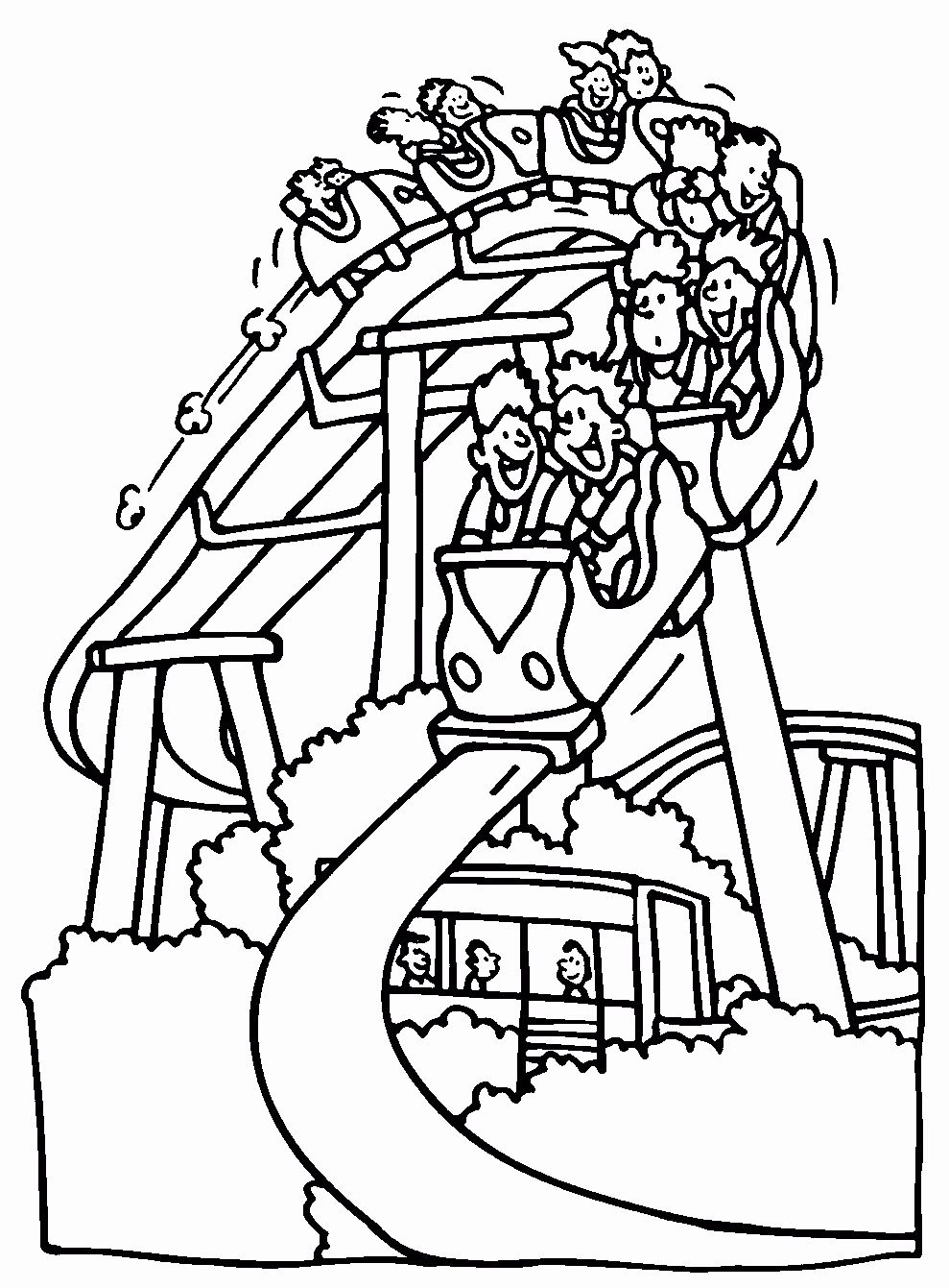 Roller Coaster Coloring Page Awesome Park Coloring Page Coloring Home Coloring Pages Summer Coloring Pages Coaster Art