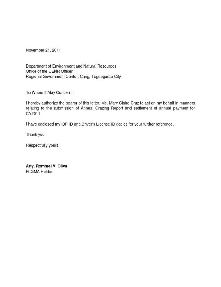 5 Bls Authorization Letter Templates Word Excel Templates