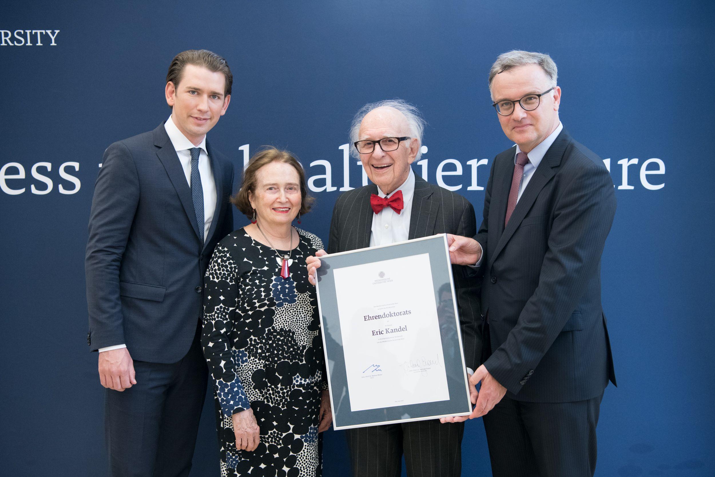 Eric Kandel erhält Ehrendoktorat der MedUni Wien  Jungmediziner