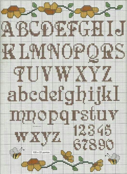 Another Nice X Stitch Alphabetnumbers Pattern Cross Stitching