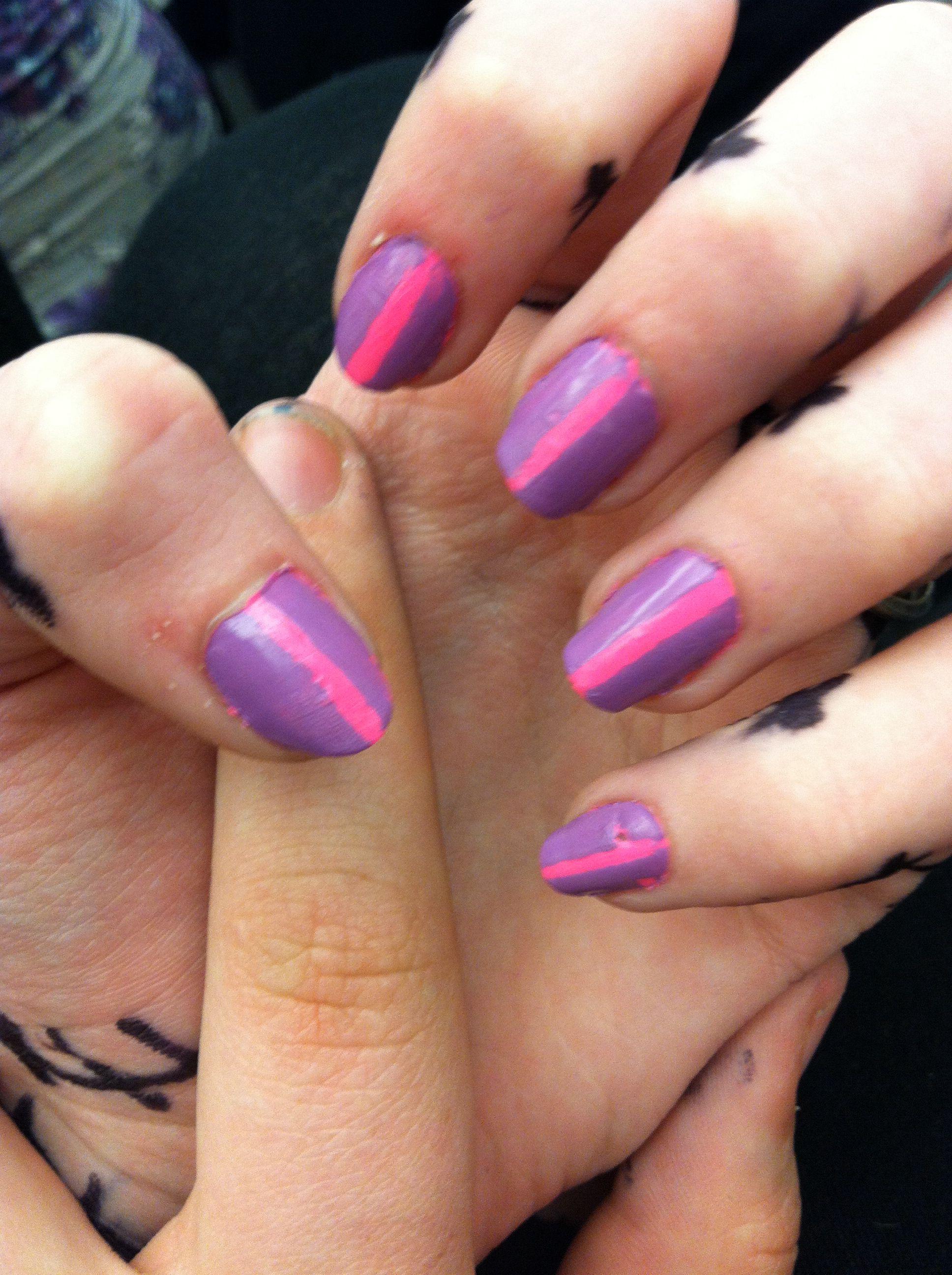 Pink and purple nail design   Nails   Pinterest   Purple nail ...