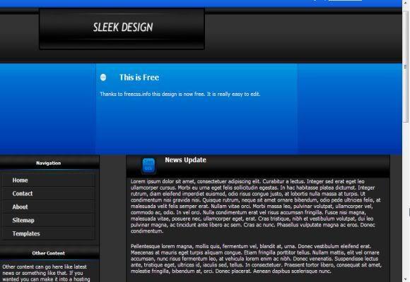 Css Simple Blue Black Website Template Free Web Templates Dreamwaver Website Template Free Web Template Free Website Templates
