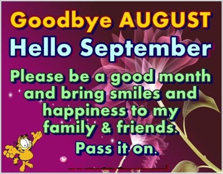 Goodbye August Hello September Quotes For Tumblr Facebook