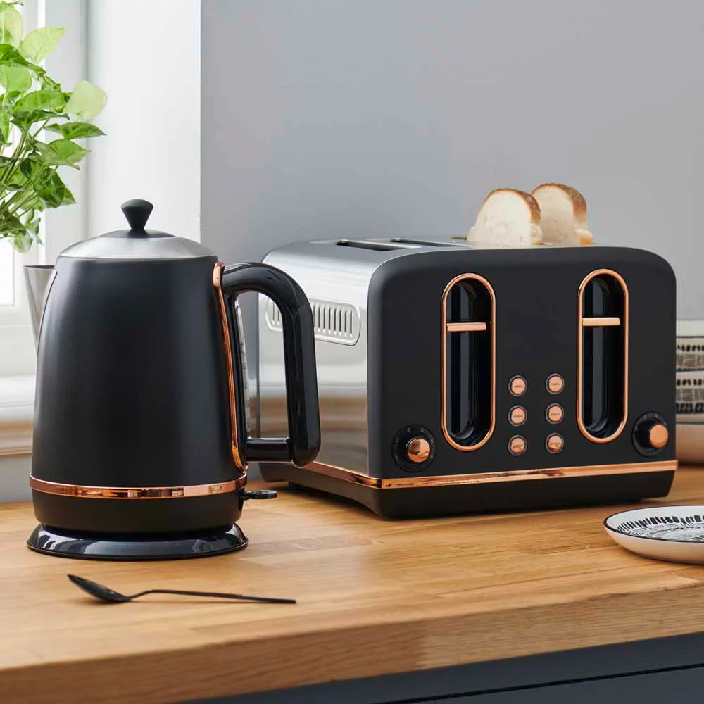 Wilko In 2020 Copper Kitchen Decor Black And Copper Kitchen Rose Gold Kitchen
