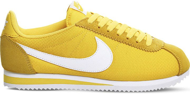 best website 321e4 2dfa6 ... official nike cortez nylon mustard yellow trainers dff37 8314c