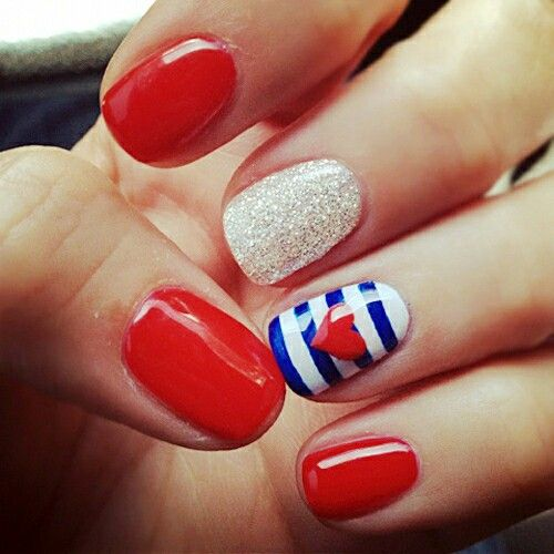 4th of July nails...