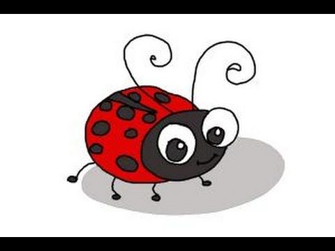 How To Draw A Ladybug For Kids Youtube Ladybird Drawing Ladybug Art Bugs Drawing
