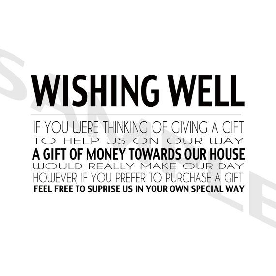Modern Wedding Wishing Well RSVP Stationery in Black and