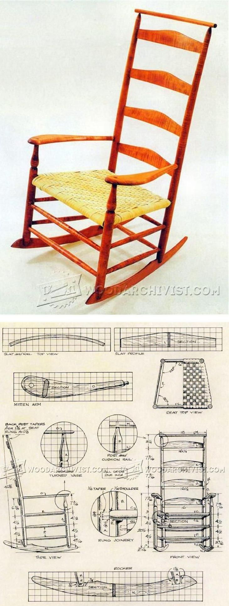 shaker rocking chair plans furniture plans and projects rh pinterest com