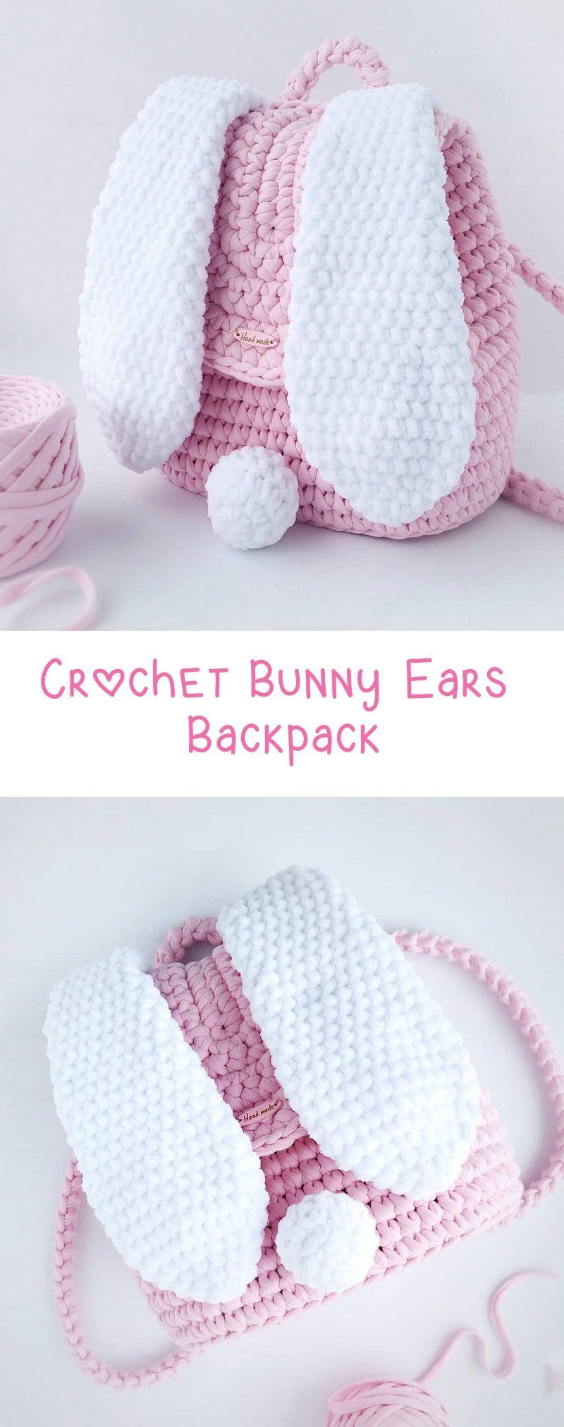 Crochet Backpack – Bunny Ears – Design Peak