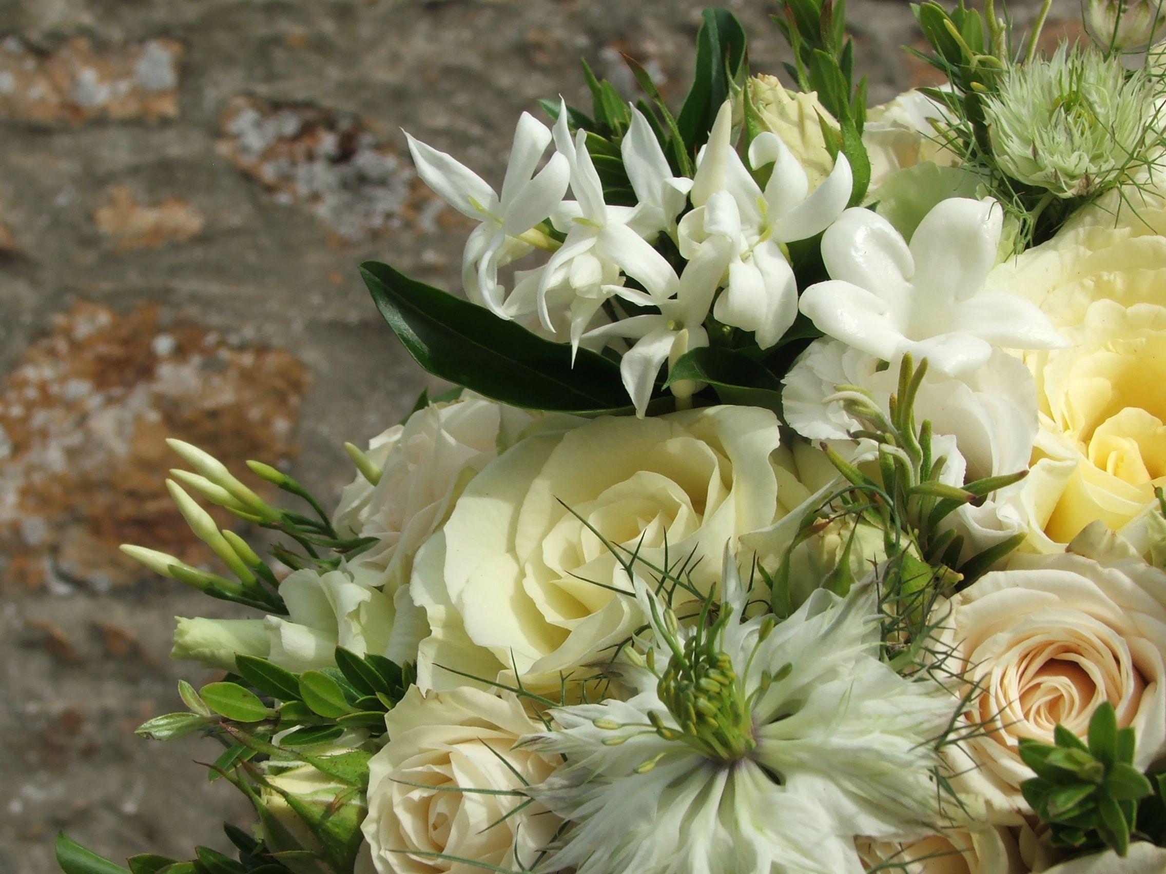 Delicate flower combination that could work well for the bridal delicate flower combination that could work well for the bridal bouquet jasmine nigella izmirmasajfo