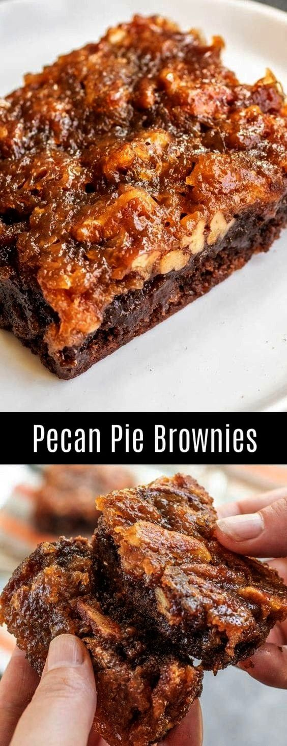 Brownies | Easy Recipes   - Yummy Deserts   Pecan Pie Brownies | Easy Recipes   - Yummy Deserts