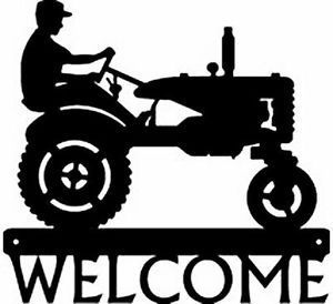 Farm Tractor 1 Metal Art Silhouette Welcome Sign New Country Wall Decor Gifts Metal Tree Wall Art Metal Art Diy Country Wall Decor