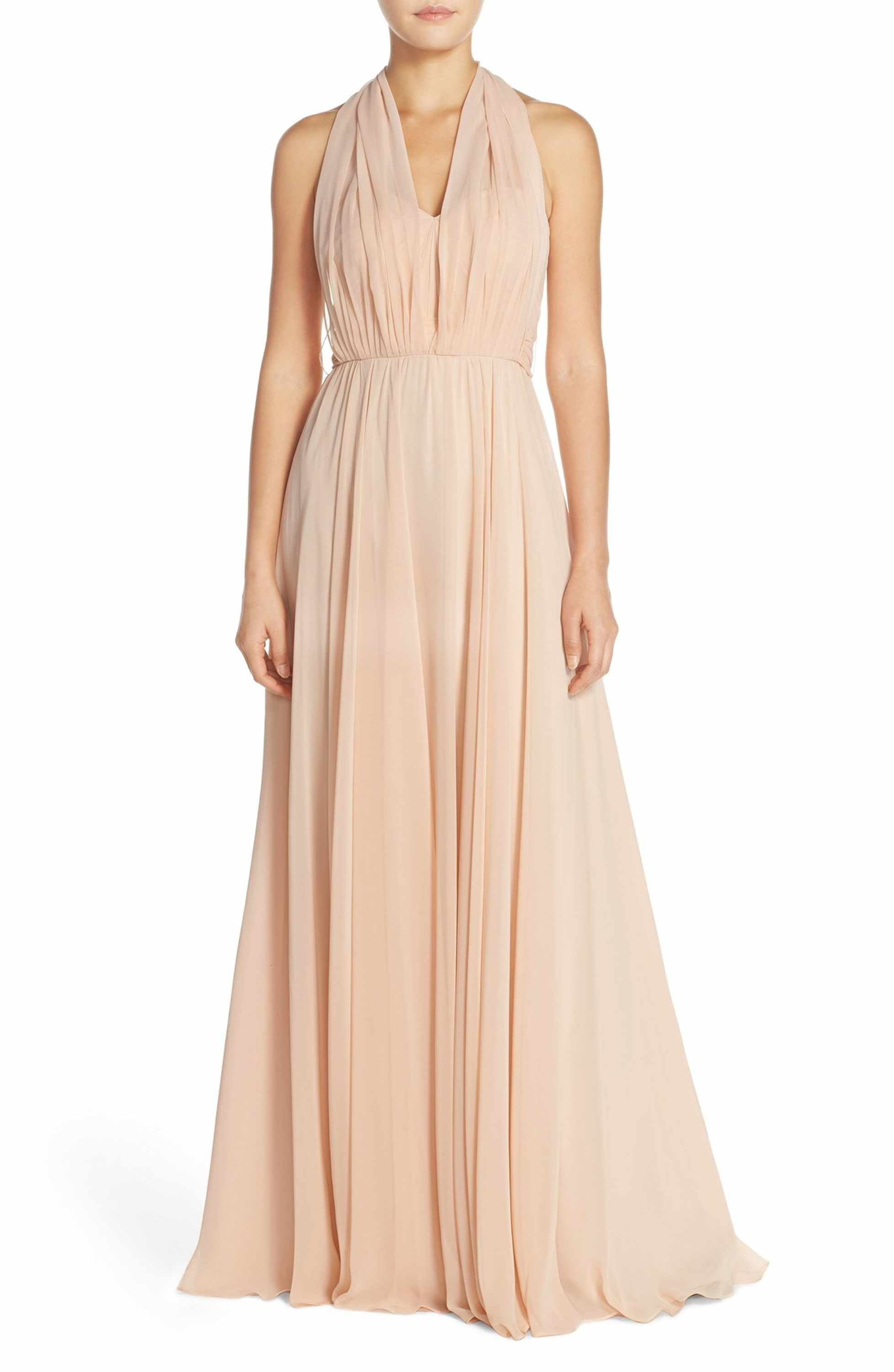 Gown dress for wedding party  Mira Convertible Strapless Chiffon Gown  Chiffon gown Gowns and