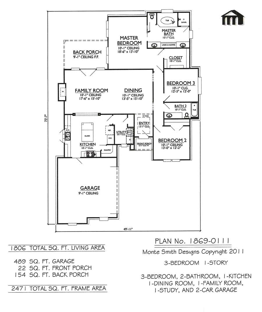 3 bedroom 2 bathroom house designs - 1 Story 3 Bedroom 2 Bathroom 1 Kitchen 1 Dining Room