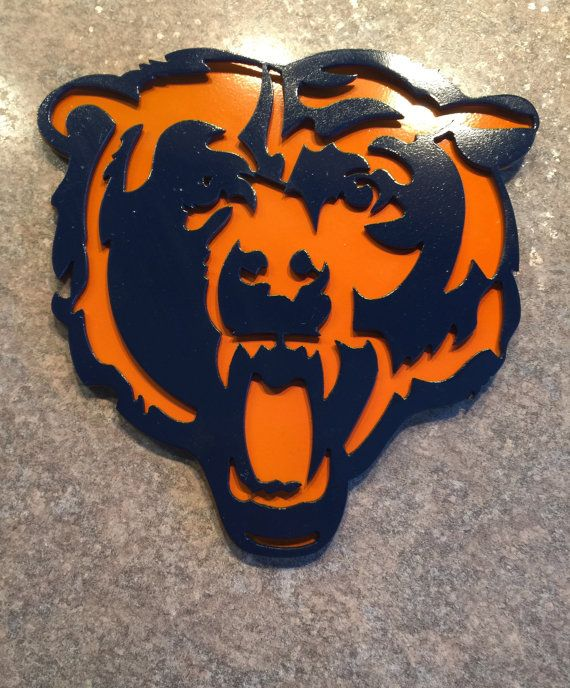 Chicago Bears Metal Art Wall Decor Sign By BlueSteelCreations Part 97