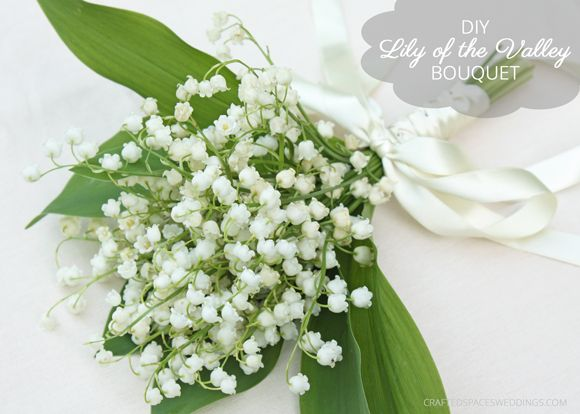 Crafted Spaces Weddings: DIY Lily Of The Valley Bouquet