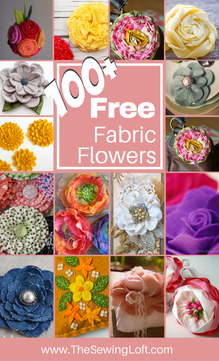 100 Diy Fabric Flower Patterns You Can Make Fabric Flowers