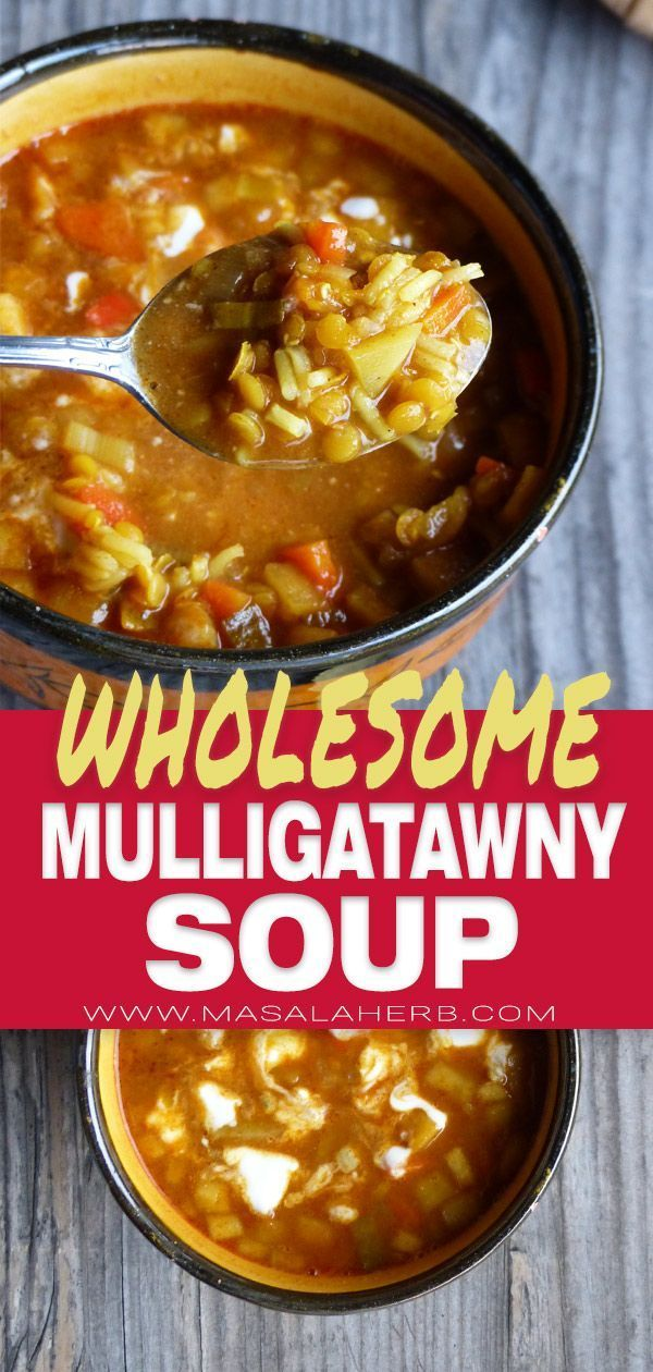Easy Mulligatawny Soup Recipe - How to make Mulligatawny Soup - wholesome Indian chicken curry soup with rice and vegetables. balanced Asian comfort meal in a bowl! www.MasalaHerb.com #soup #mulligatawny #masalaherb #mulligatawnysoup Easy Mulligatawny Soup Recipe - How to make Mulligatawny Soup - wholesome Indian chicken curry soup with rice and vegetables. balanced Asian comfort meal in a bowl! www.MasalaHerb.com #soup #mulligatawny #masalaherb #mulligatawnysoup