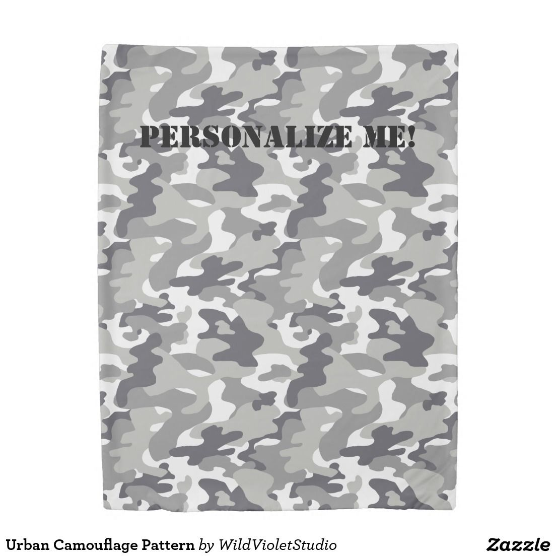 Urban Camouflage Pattern Duvet Cover In Three Sizes With ...