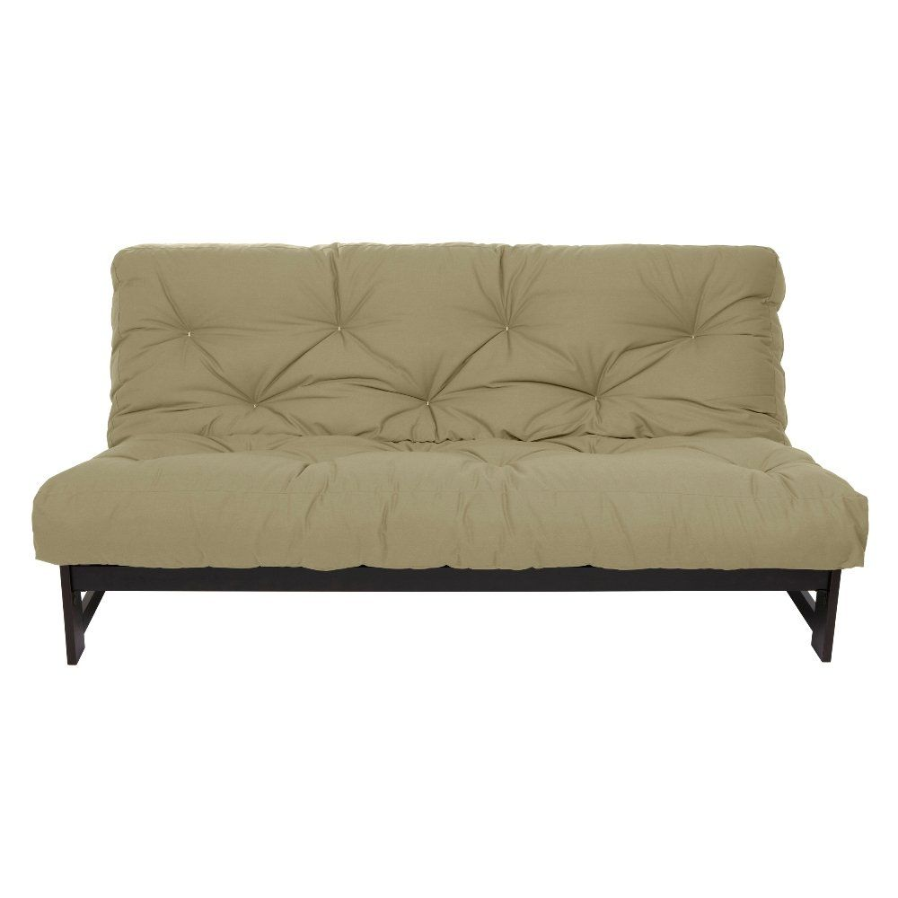 mozaic full size 6inch cotton twill futon mattress khaki you can