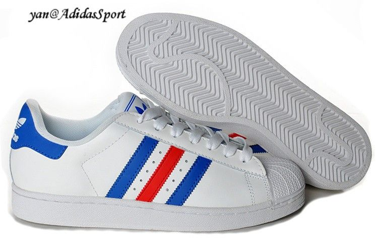 wholesale dealer 268ba d7d55 Adidas Originals Superstar Amantes Blanco Azul Rojo Zapatillas Comprar  Baratas