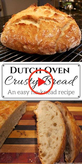 Makkelijk, No-Kneed Nederlandse Oven Knapperig Brood