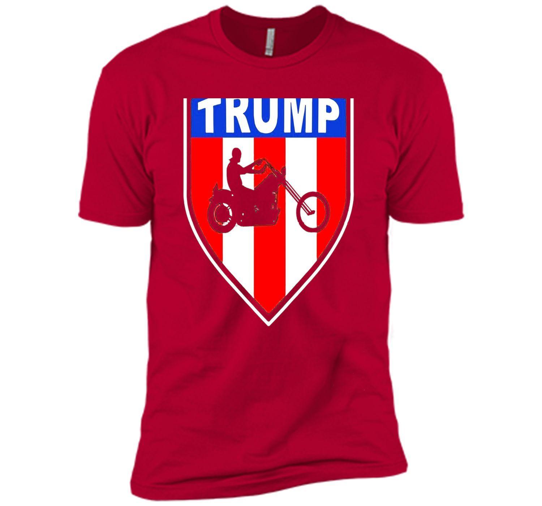 Bikers For Trump T shirt 2016 President - Backside Shirt