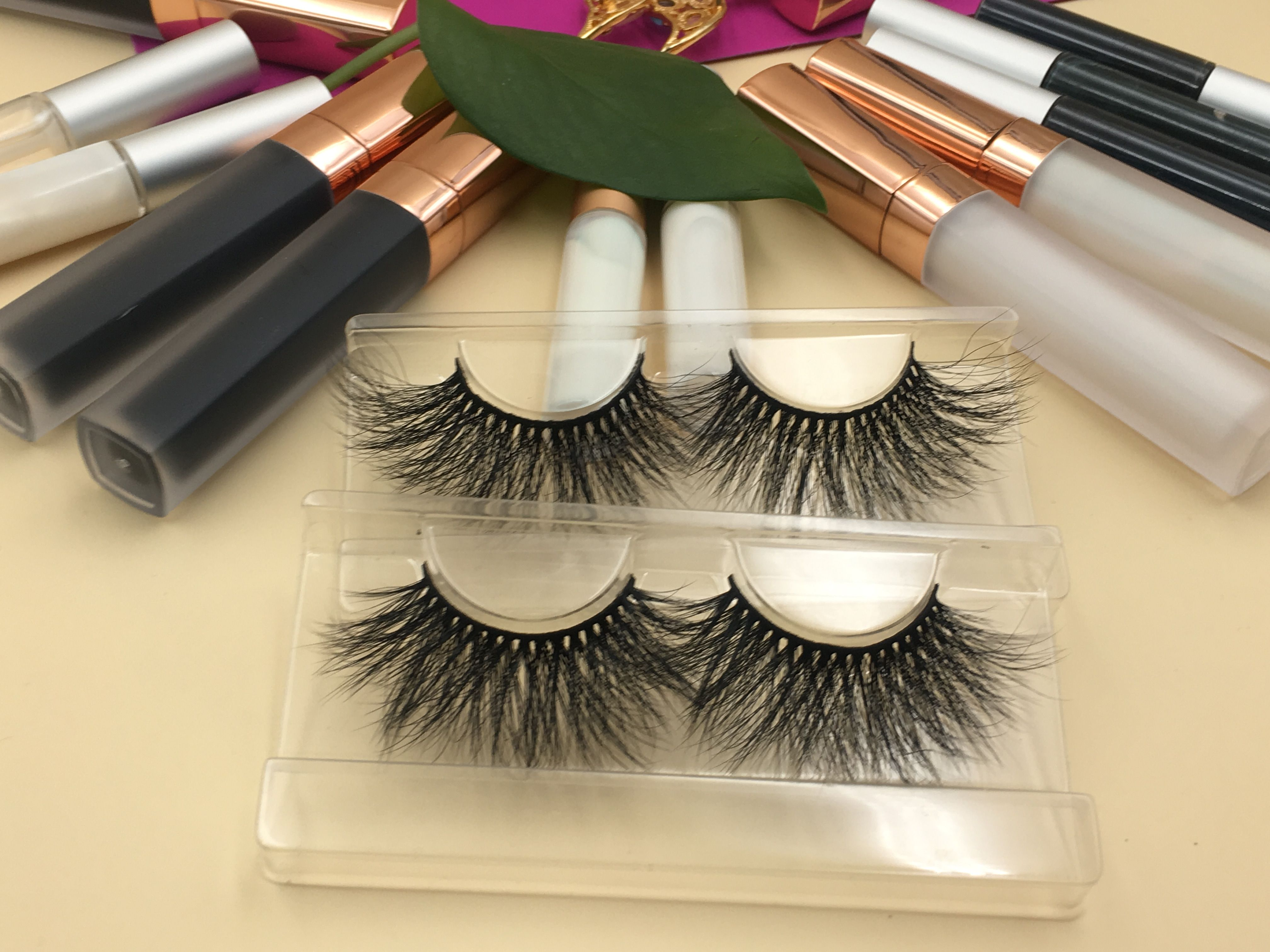 Wholesale Beauty Vendors 2019 的wholesale Lash Vendors 25mm Mink Strip Lashes 3d