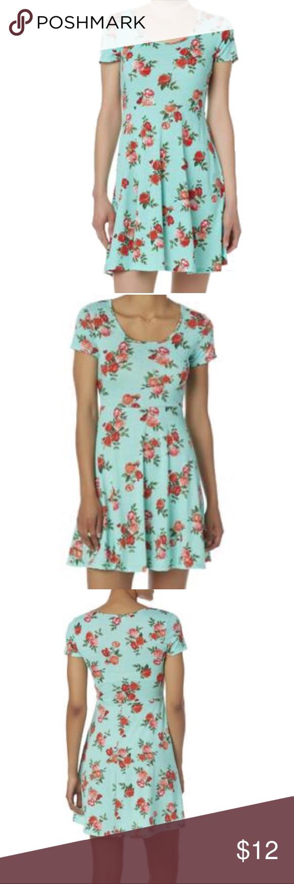 e4f67743cea0 Floral dress Floral skater dress by joe boxer size large juniors new joe  boxer Dresses