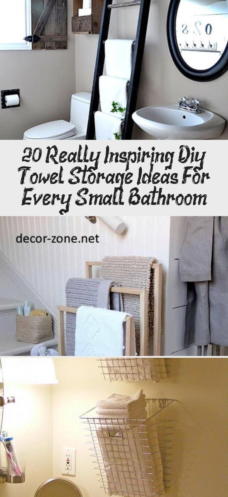 20 Really Inspiring Diy Towel Storage Ideas For Every Small Bathroom Diy Towels Towel Storage Small Bathroom Decor