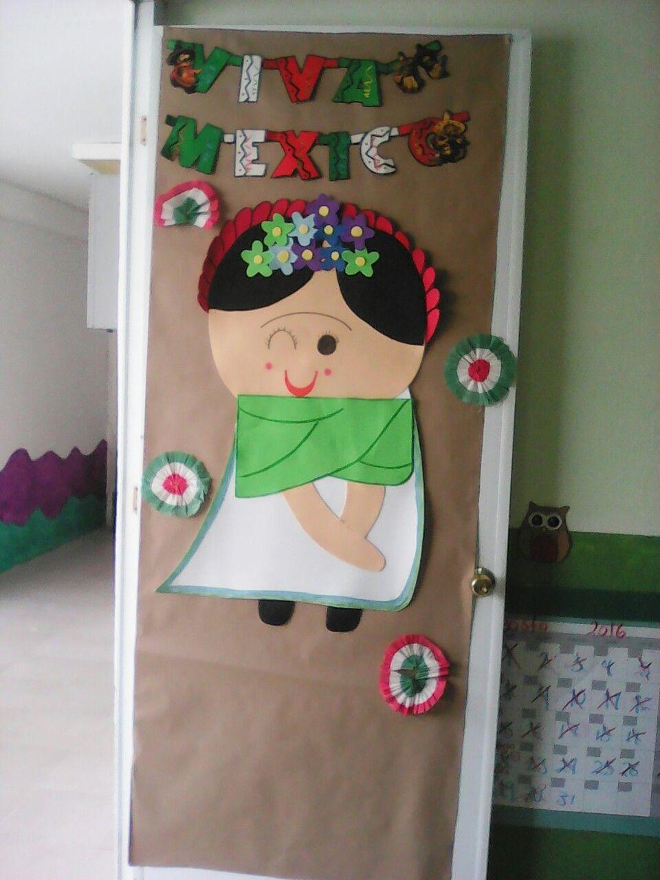 Decoraci n de puertas para septiembre mi puerta for Puertas decoradas 16 de septiembre