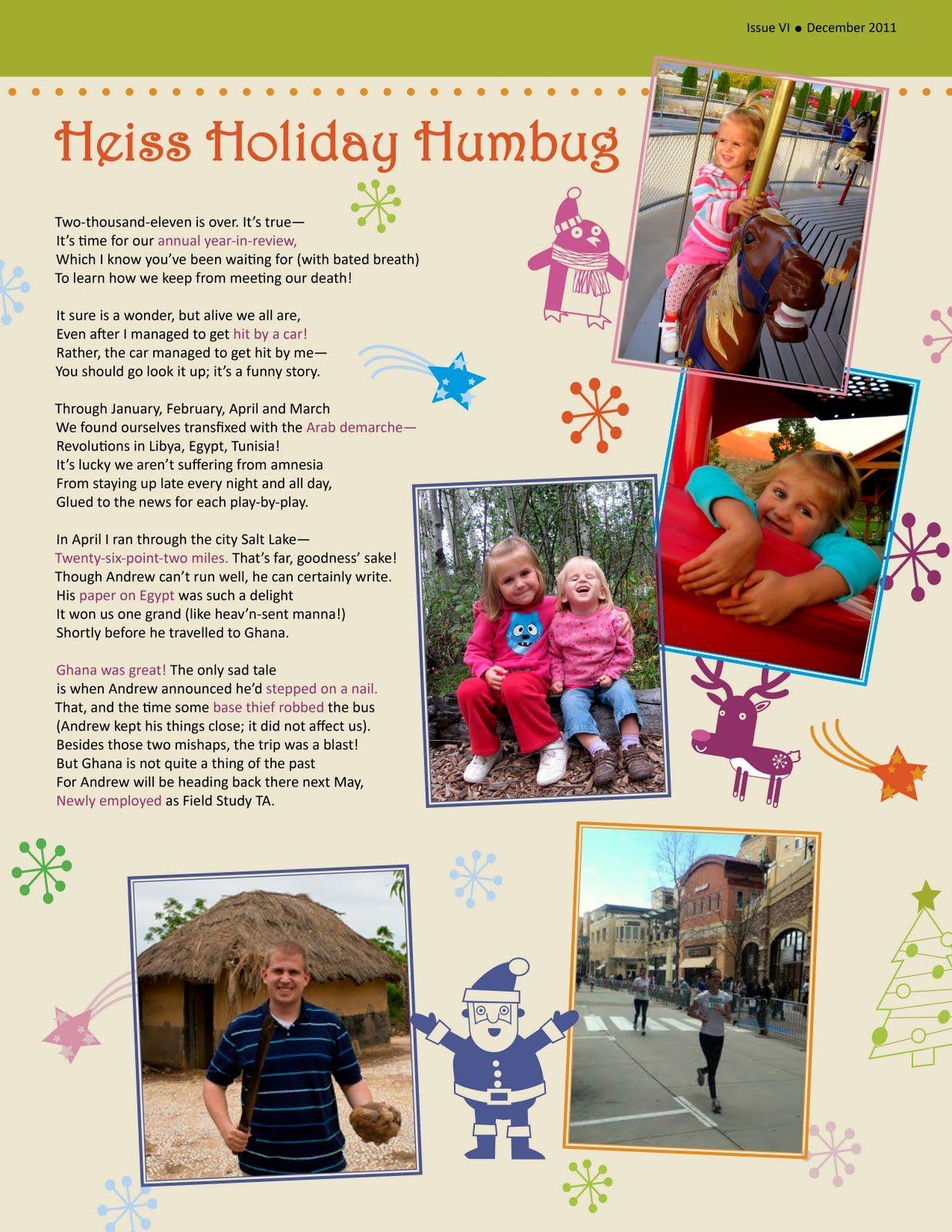 christmas photo newsletter template Christmas Newsletter