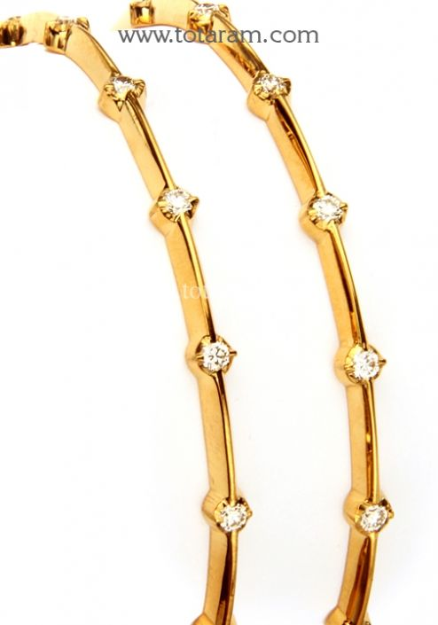Diamond Bangles in 22K Gold Totaram Jewelers Buy Indian Gold