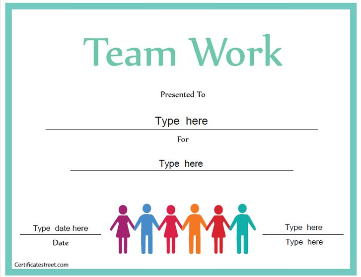 Business Certificate Certificate for Good Teamwork – Business Certificate Templates