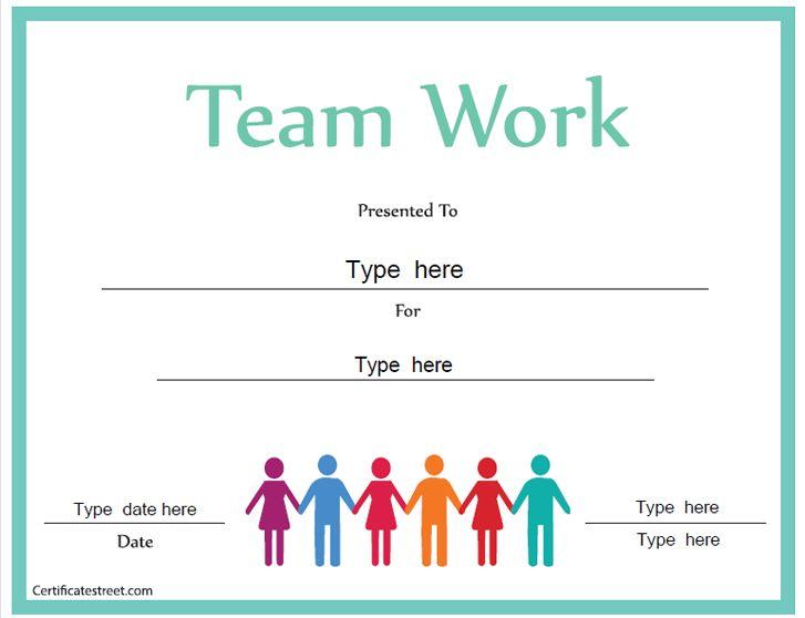 Business Certificate Certificate for Good Teamwork – Business Certificate Templates