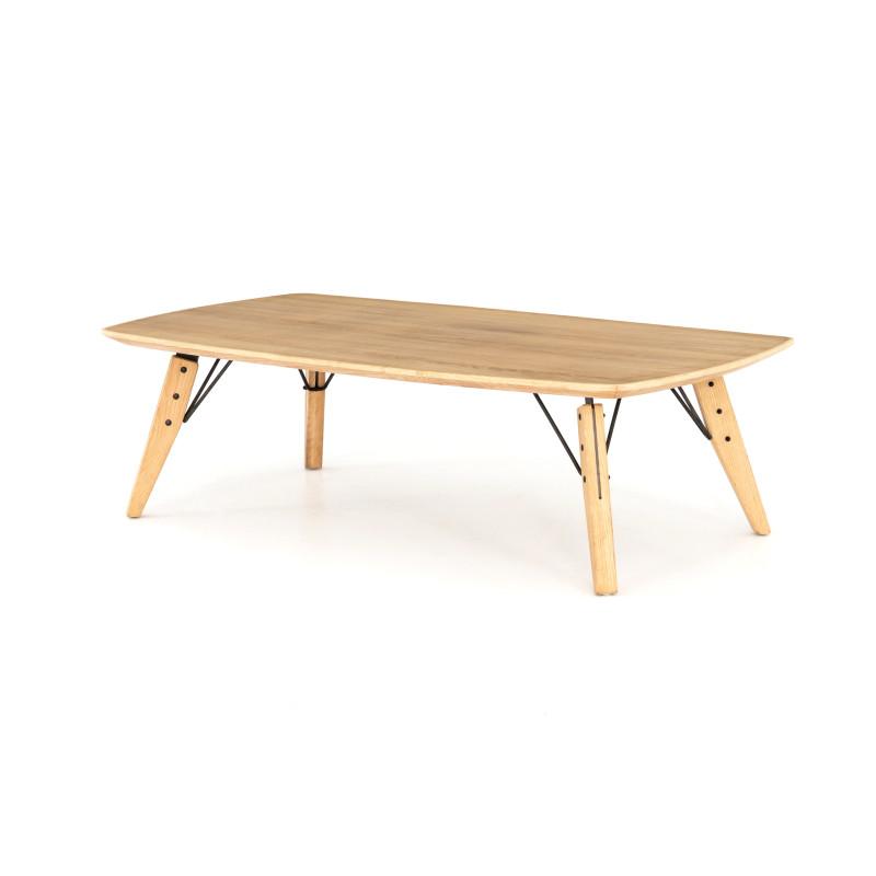Rustica Hardware Thoreau Slim Light Oak Coffee Table Simple