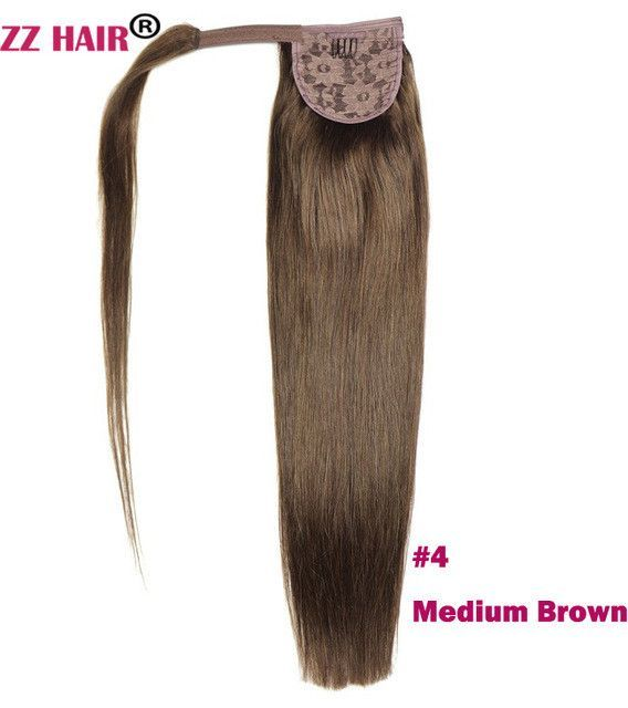 Zzhair 20 51cm 100 Human Hair Brazilian Clip In Human Hair