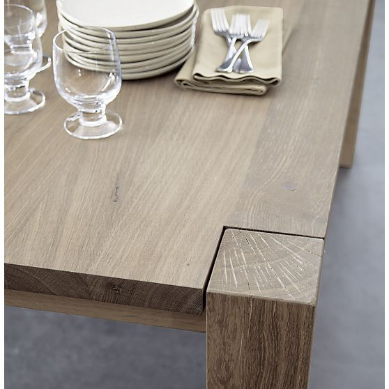 Big Sur Natural 90 5 Dining Table In Dining Tables Crate And Barrel With Images Dining Benches Crate And Barrel Crates