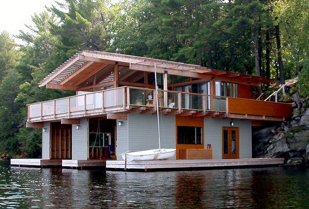 Boat House Plans Lakefront Living House Boat House