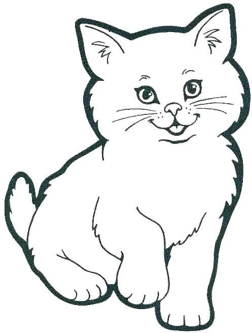 Pretty Design Colouring Pictures Of Cats Big Cat Coloring Pages Free Cartoon Cat Drawing Cat Coloring Page Simple Cat Drawing