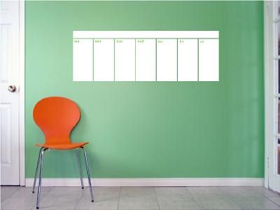 Wall Decal Family Wall Decals Dry Erase Calendar Diy Calendar