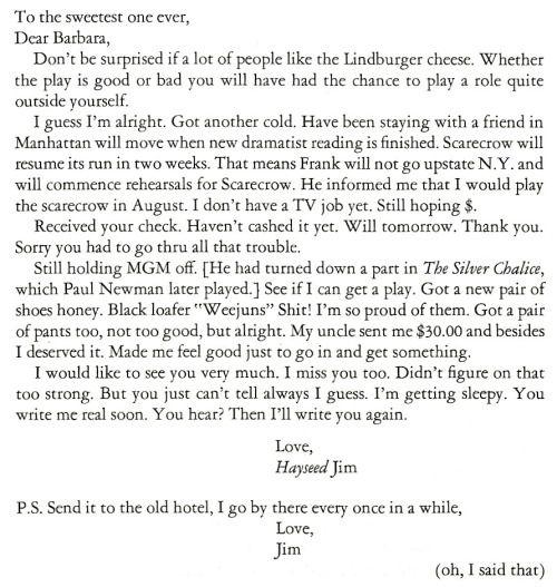 Letter to... Barbara Glenn.