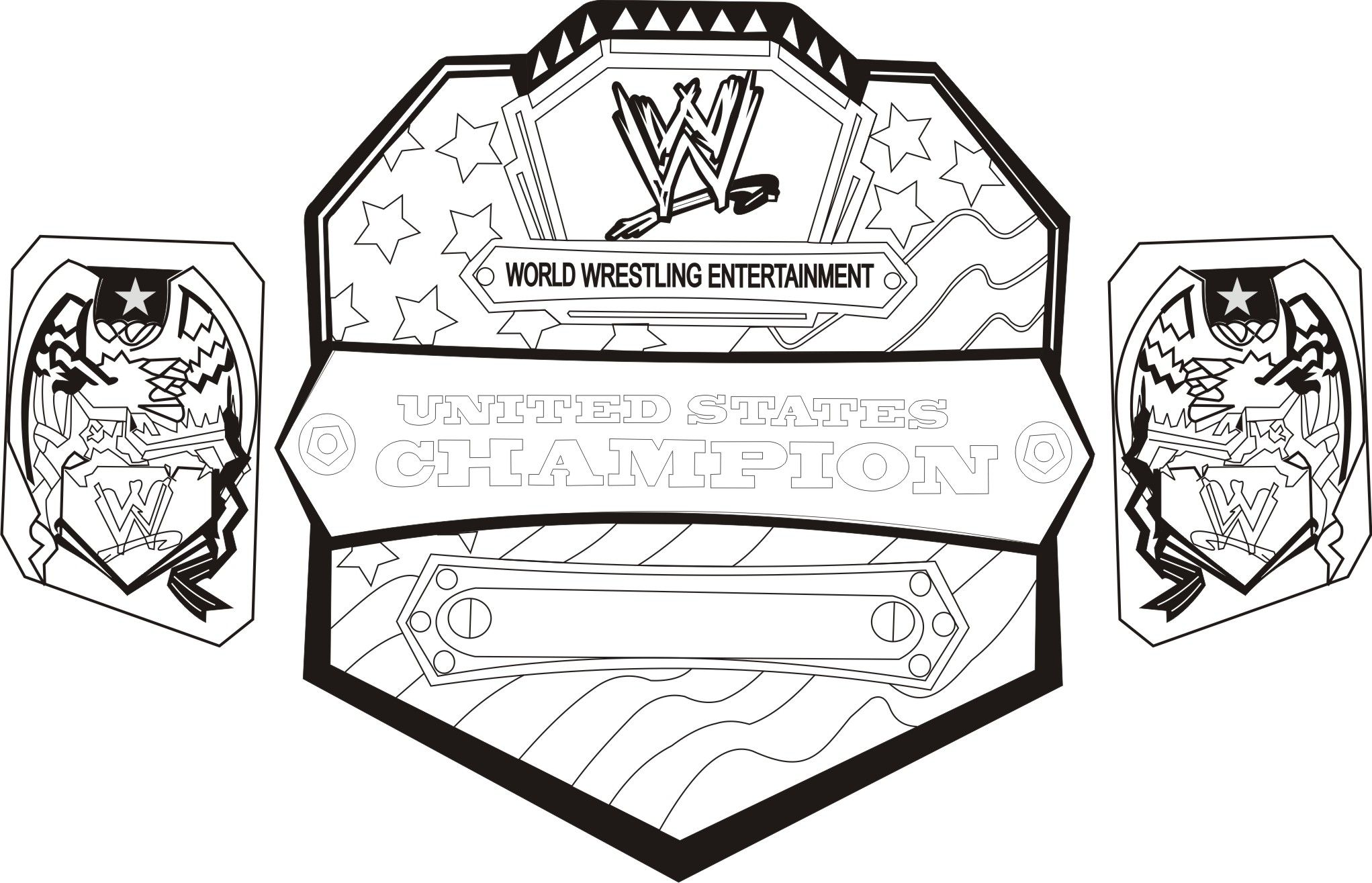 wwe coloring pages Free Large