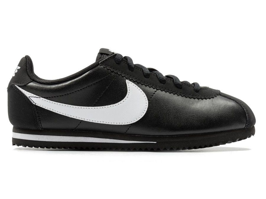 Nike Cortez Leather GS - Black   White – West Brothers  nike  cortez   nikecortez  kidsshoes  sneakers d3f6be410