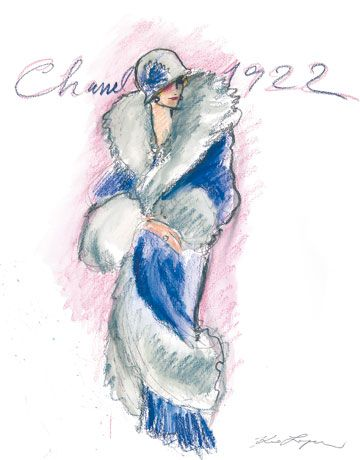 Chanel Illustration By Karl Lagerfeld Figurines Moda Pinterest