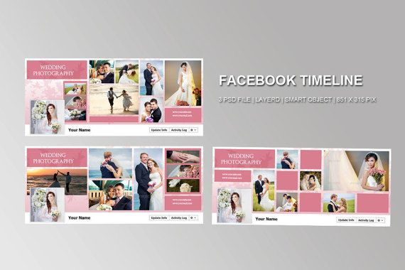 Facebook Timeline cover template bundle 3 in 1 by TemplateStock - advertising timeline template