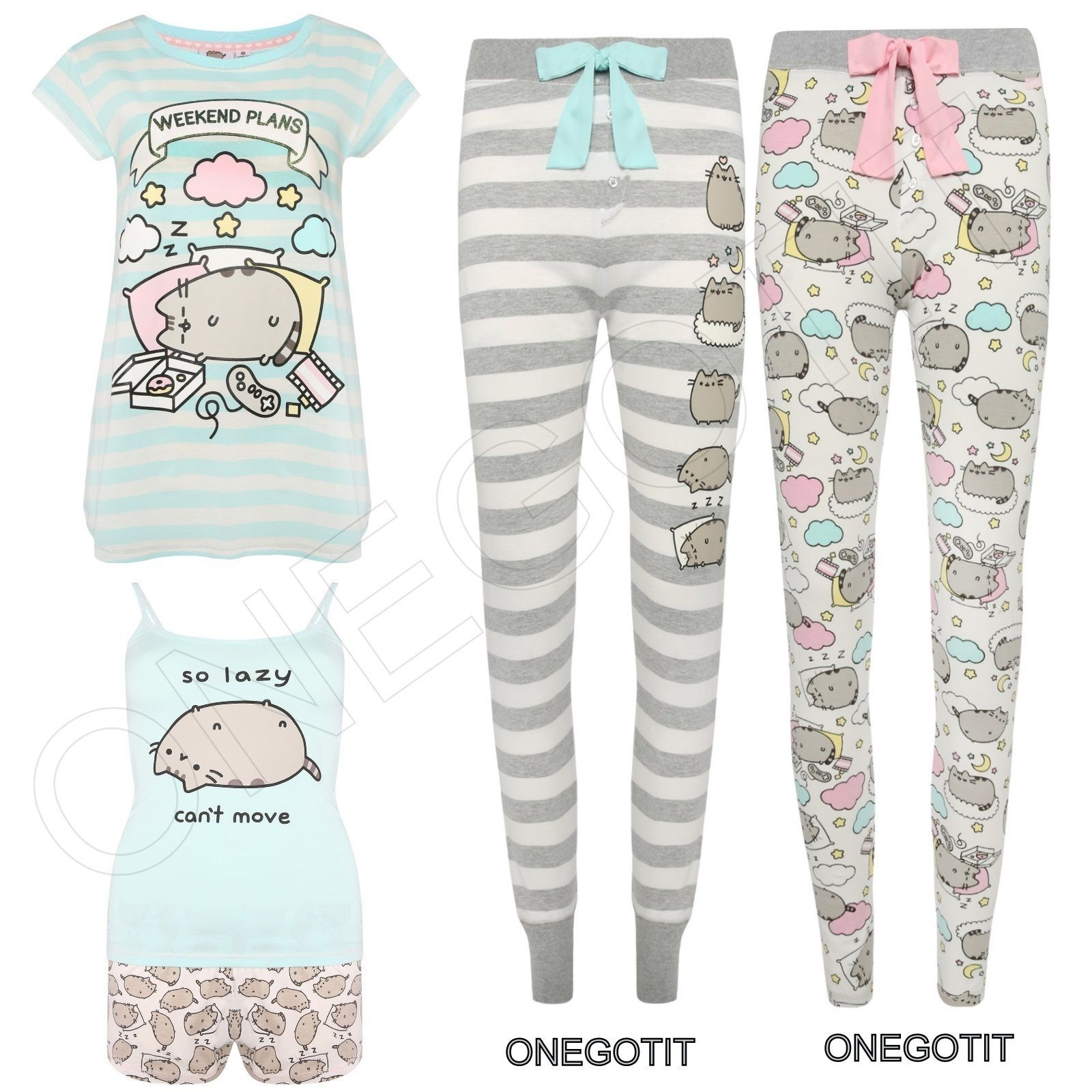 a5fe0dcb48b014 CAT PUSHEEN PRIMARK Ladies Pyjamas Set T-Shirt Legging Vest Short Girls  Womens in Clothes, Shoes & Accessories, Women's Clothing, Lingerie &  Nightwear, ...