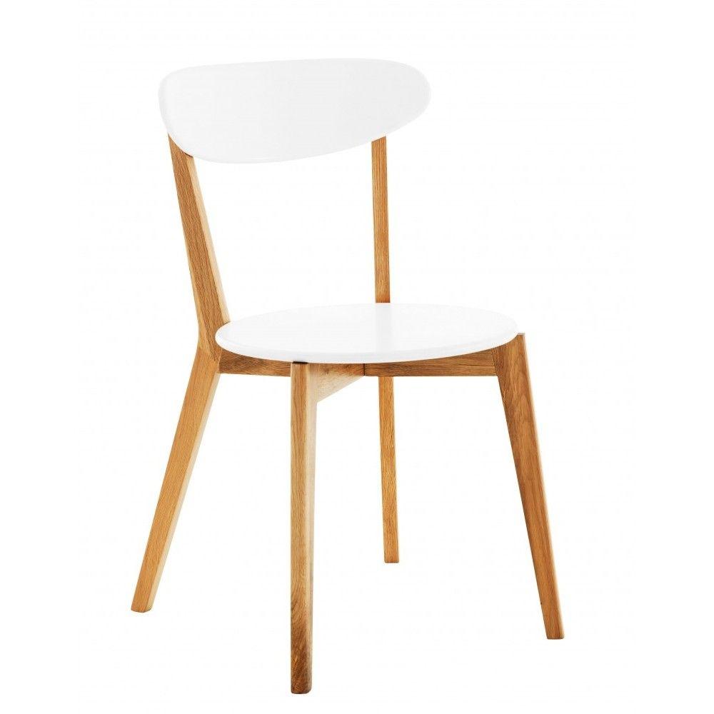 Chaise SOPHIE de FLY, 119 €, existe en blanc + chêne ou 100% chêne ...